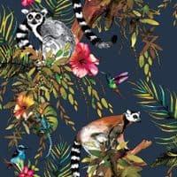 Holden Decor Lemur Midnight Blue 12403 Wallpaper